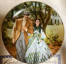 """Gone With the Wind """"Home to Tara"""" Collector Plate Bradford Exchange 1988"""