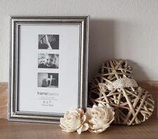 Bilderrahmen Holz Optik Rahmen Barock Stil Antik Silber Shabby für Foto 13x18 cm
