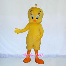 【SALE】 New Tweety Looney Yellow Bird Mascot Costume Halloween Dress Adult Size