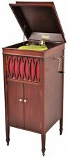 Antique Brunswick Balke & Collender Phonograph Record Player Upright Crank