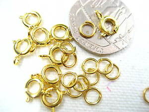 100pc necklace Bracelet gold round clasps jump rings sets Fastener Clasp Hooks