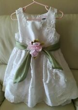 Sweet Heart Rose Toddler Girl Special Occasion Party Dress Size 4T Flower Belted