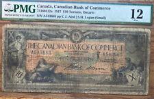 Pmg 1917 Canadian Bank Of Commerce $10 Toronto, Ontario Fine 10
