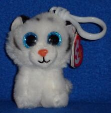 TY TUNDRA the WHITE TIGER KEY CLIP BEANIE BABY - MINT with MINT TAG