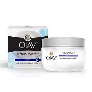Olay Natural White All in One Fairness Night Skin Cream, 50gm free ship world
