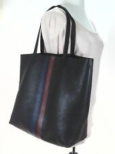 Madewell by J.Crew Transport Tote in Brown w Red/Blue Stripe Leather Super RARE