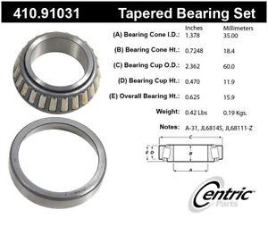Wheel Bearing and Race Set-Premium Bearings Centric 410.91031