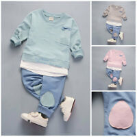 c837a3c7c Kids toddler Baby boys girls outfits cotton tops+pants boys casual tracksuit