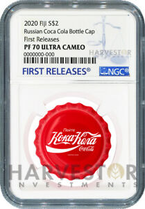 2020 COCA-COLA BOTTLE CAP COIN - RUSSIAN LANGUAGE - NGC PF70 FIRST RELEASES