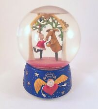 Department 56 Snow Globe Santa and Reindeer Winged Angel Musical Music Box