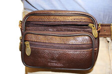 Cow Leather Brown Travel Fanny Pouch Cross Body Purse Hip Passport Bag Waist JTC