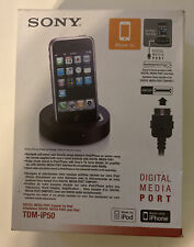 Sony iPod iPhone Digital Media Port Adapter Tdm-iP50 For Apple 30-Pin Devices
