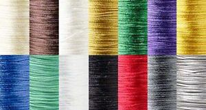 1.5mm Thick Mousetail Satin Beading Cord String For Beads In 3 Yard Increments
