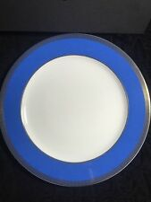 VERSACE CHARGER PLATE Blue gold Greek Key ROSENTHAL NEW RETAIL $300 SALE