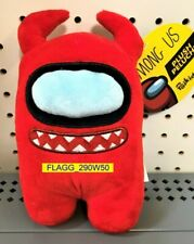 """AMONG US 6"""" Plush RED DEVIL Crewmate Imposter HORNS Toikido 2021 New With Tags"""