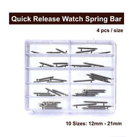 Quick Release Spring Bars Stainless Steel Watch Band Strap Pin 40 Pcs of 12-21mm