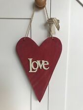 Wooden LOVE Heart Wall Decoration Shabby Chic Design