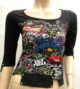 Top Haut T-shirt LOLA ESPELETA T. 34 / 36 XS S 1 Grapique TBE Tee-shirt Camiseta