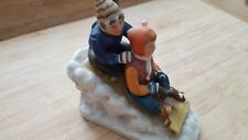 """Downhill Racer"" Porcelain Figurine By Norman Rockwell"