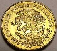 Mexico 1967 5 Centavos Gem Unc Brass Coin~White Josefa~Free Shipping