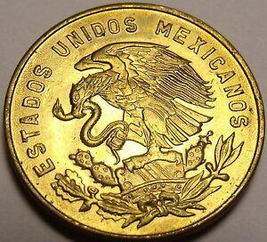 Mexico 1967 5 Centavos Gem Unc Brass Coin~White Josefa
