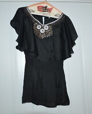 Lucy Paris Black Women's Sheer Size Medium Dress