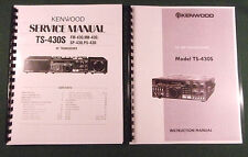 "Kenwood TS-430S Instruction & Service Manuals: 17"" Foldout Diagrams & 32LB Paper"
