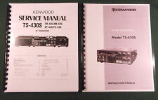 "Kenwood TS-430S Instruction & Service Manuals: 11"" X 17"" Foldout Diagrams!"
