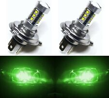 LED 80W 9003 HB2 H4 Green Two Bulbs Head Light Replacement Show Off Road JDM Fit