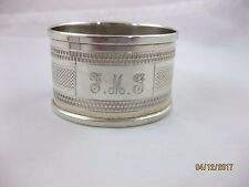 Solid Silver  OVAL NAPKIN RING  Hallmarked  CHESTER 1961