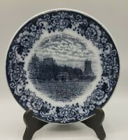 "Old Staffordshire Rowland & Marsellus 1000 Islands NY 8.5"" Blue & White Plate"