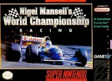 Nigel Mansell's World Championship Racing For Super Nintendo SNES 2E