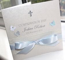 Personalised Handmade Confirmation Christen Boy Card - Charlotte Elisabeth C005