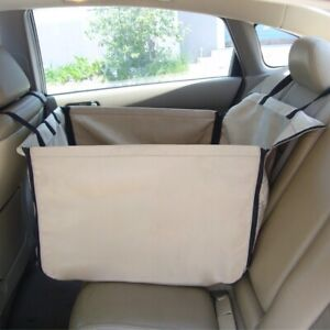 Pet Car Auto Box Fixable Back Seat Dog Oxford Cloth Zip Protect Mat Accessories