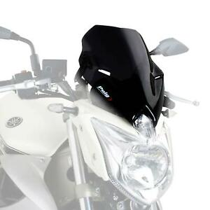 Puig Sport Screen Windshield Deflector Black (Opaque) Yamaha XJ6 2009 - 2016