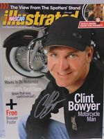 RARE 2009 CLINT BOWYER SIGNED AUTOGRAPHED NASCAR ILLUSTRATED MAGAZINE WITH COA