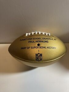 Paul Hornung 50 Super Bowl On The Fifty Player Issued 1 Of 1 Gold Football Rare