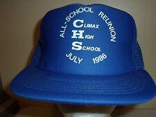 CLIMAX REUNION MN MESH SNAPBACK Baseball Cap Trucker Hat Retro Rare Unique Lid Q