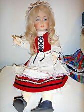 "24"" Bisque Reproduction K*R Simon & Halbig 117 Doll ball jointed handmade dress"
