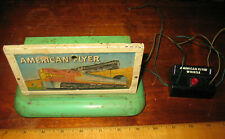 Vintage American Flyer  Whistling Billboard w Control Button A.C. Gilbert Co.