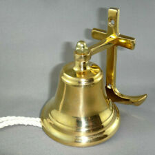 Collectible Personalized Home Decor Brass Anchor Hand Mooring Brass Bell