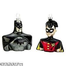 Hallmark Batman and Robin Blown Glass Ornament Set