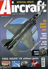 Aircraft Illustrated 2003 March A-4,UK Airlines,F-16,Airbus A330,757,L-39