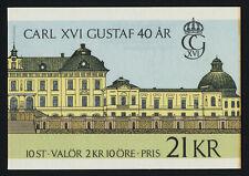Sweden 1600a Booklet MNH King Carl XVI Gustaf
