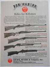 1980 original AD Ruger Rifles Model 77, Number One, Number 3, 44 Carbine