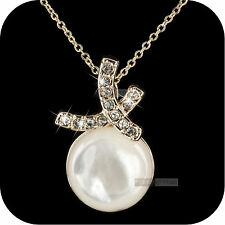18k rose gold made with SWAROVSKI crystal shell round pendant necklace