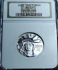 2000 Platinum Eagle $50 Half Ounce MS 67 NGC 1/2 oz Platinum .9995
