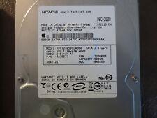 """Hitachi HDT721050SLA360 PN:0A38673 MLC:BA3288 Apple#655-1479D 500g Sata 3.5"""" HDD"""