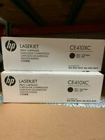 2 HP 305X CE410XC Black  Toner Cartridge Pro 400 Color MFP M451nw MFP M375nw