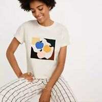 NWOT Madewell Women's Apple Picking Graphic Easy Crop Boxy Tee T-Shirt Small